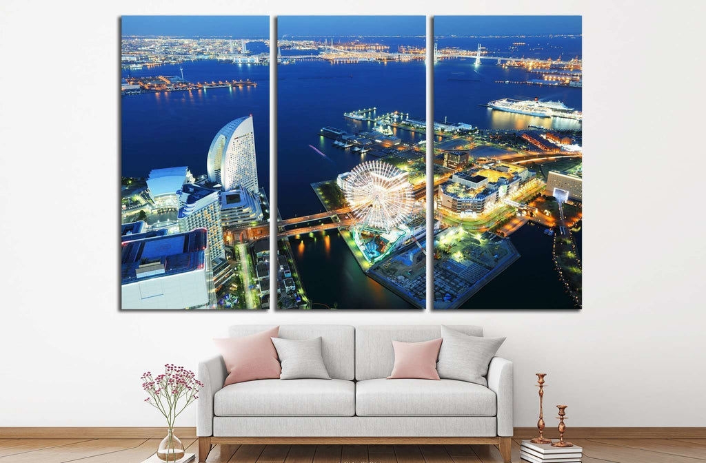 Yokohama cityscape №789 Ready to Hang Canvas Print