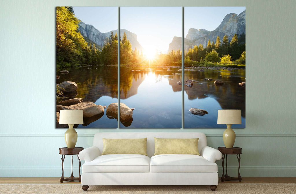 Yosemite valley sunrise №650 Ready to Hang Canvas Print