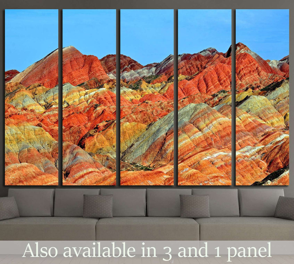 ZHANGYE, CHINA, Danxia landform in Zhangye, China №1966 Ready to Hang Canvas Print