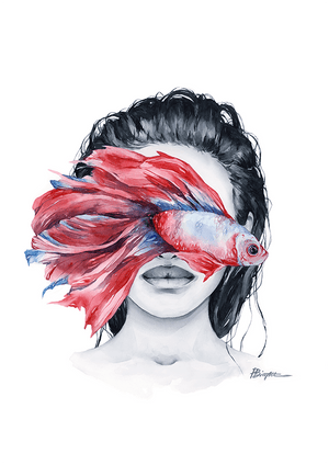 Betta Fish blindfolded