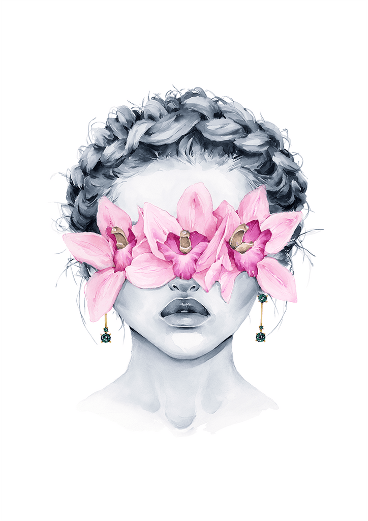 Pink Orchid blindfolded