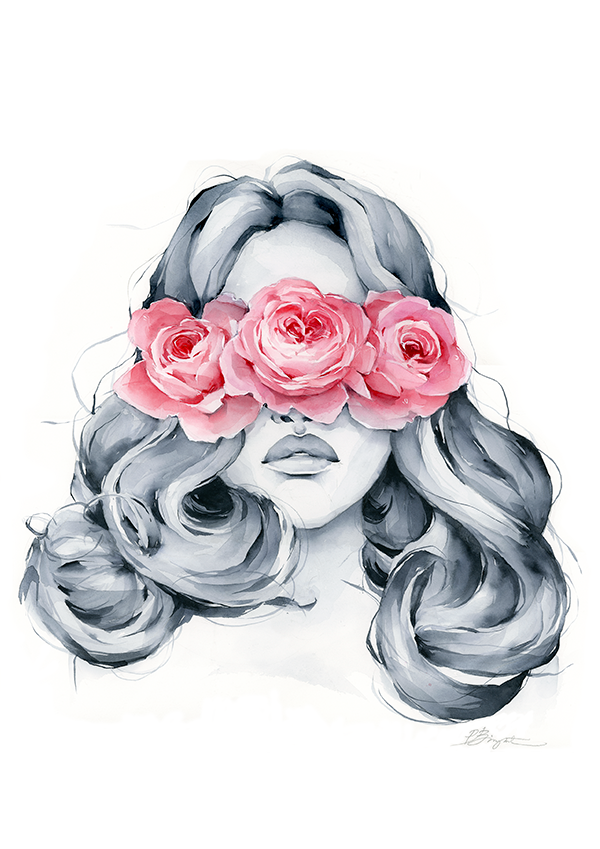 Rose blindfolded