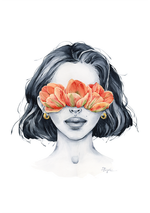 Tulip blindfolded