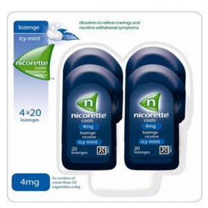Nicorette Cools 80 Lozenges, 4 mg (Stop Smoking Aid)