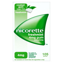 Load image into Gallery viewer, Nicorette Fresh Mint Chewing Gum, 4 mg, 105 Pieces (Stop Smoking Aid)
