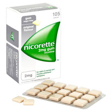 Load image into Gallery viewer, Nicorette Original Chewing Gum, 2 mg, 105 Pieces (Stop Smoking Aid) - Packaging may Vary