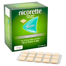 Load image into Gallery viewer, Nicorette Original Chewing Gum, 2 mg, 210 Pieces (Stop Smoking Aid) - Packaging May Vary