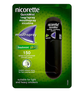 Nicorette QuickMist Freshmint Mouth Spray, 1 mg (Stop Smoking Aid)