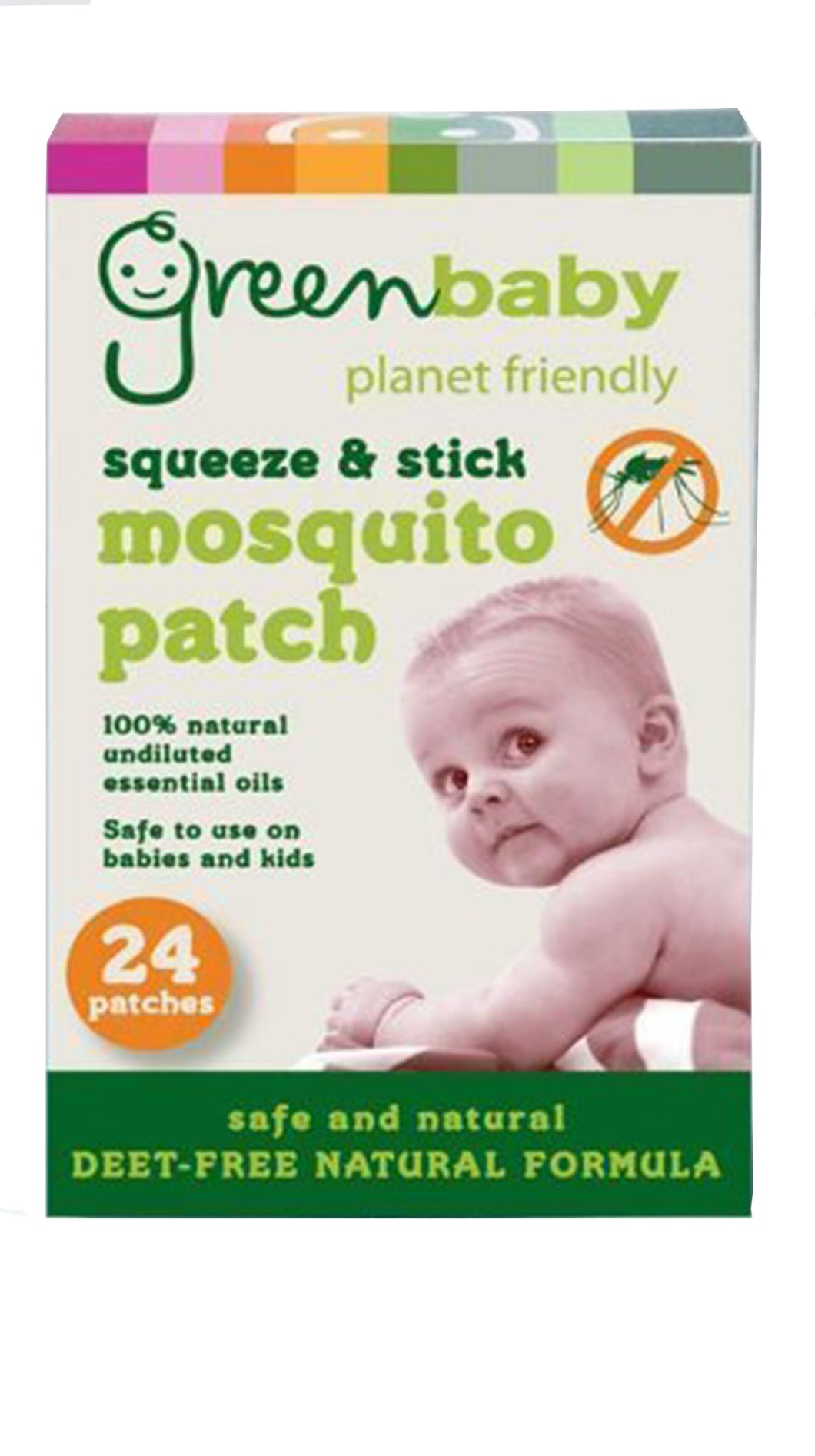 Green Baby Mosquito Patch Insect Repellent Deet Free 100% Natural