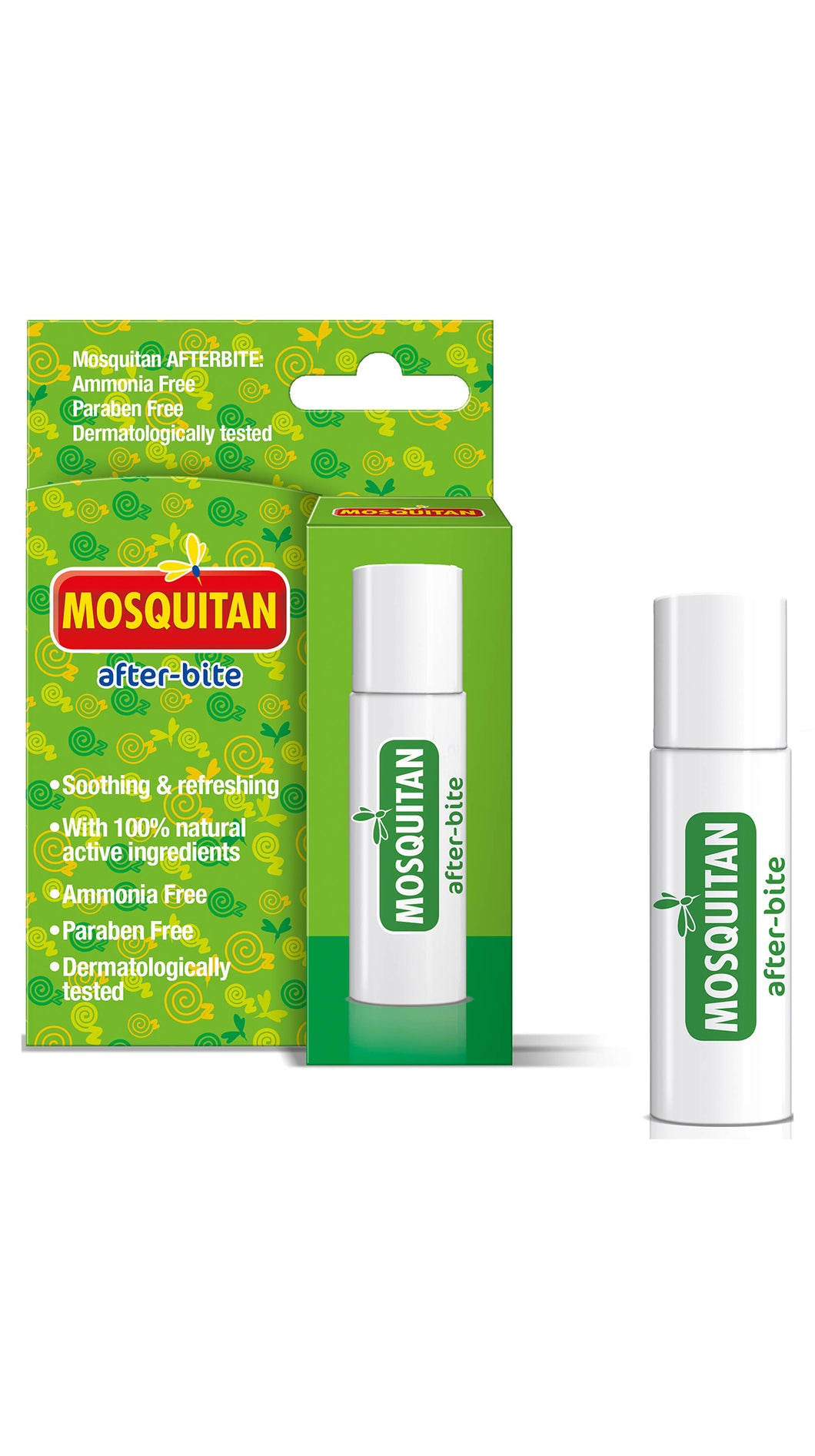 Mosquitan Roll-On After Bite Instant Insect Bite Relief 100% Natrual Active Ingredients 20ML