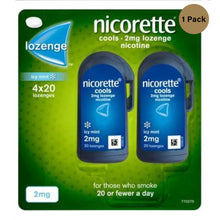 Load image into Gallery viewer, Nicorette Cools 80 Lozenges, 2 mg (Stop Smoking Aid)