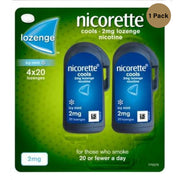 Nicorette Cools 80 Lozenges, 2 mg (Stop Smoking Aid)( Pack Of 3)