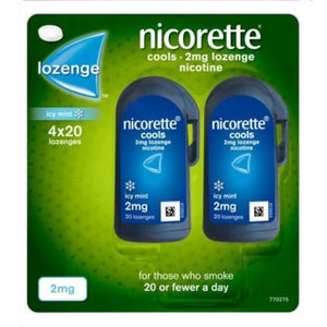 Nicorette Cools 80 Lozenges, 2 mg (Stop Smoking Aid)