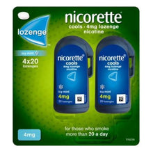Load image into Gallery viewer, Nicorette Cools 80 Lozenges, 4 mg (Stop Smoking Aid)