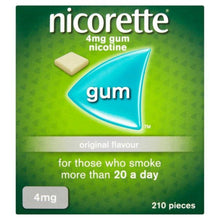 Load image into Gallery viewer, Nicorette Original Chewing Gum, 4 mg, 210 Pieces (Stop Smoking Aid)- Packaging may Vary