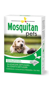 Mosquitan Pets Anti Mosquito Patches, Natural & Deet Free Ingredients - 24 pack