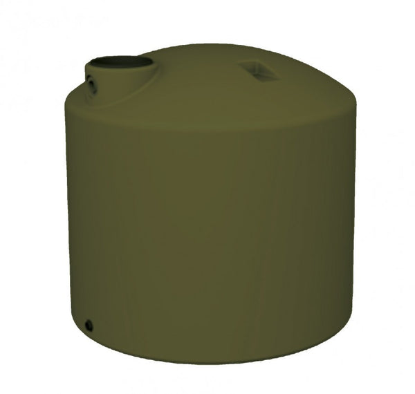 5000 Litre SQUAT (1100 Gal) - Poly Water Tank Round