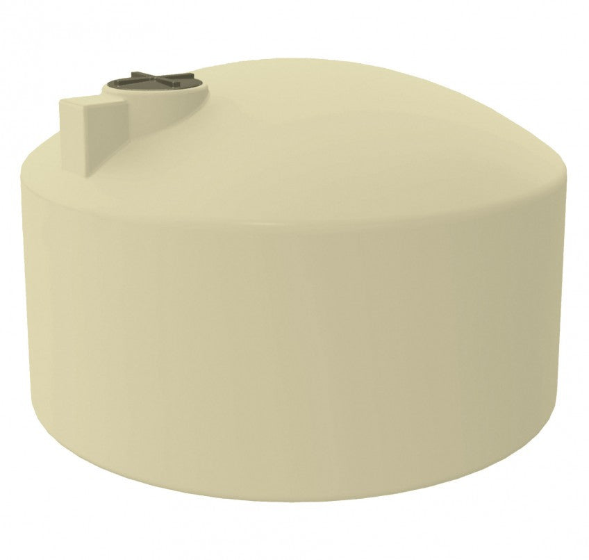 22500 Litre SQUAT (5000 Gal) - Poly Water Tank Round