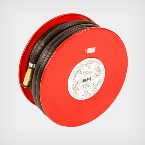 36mtr Fire Hose Reel with Wall Bracket & Brass Fire Nozzle