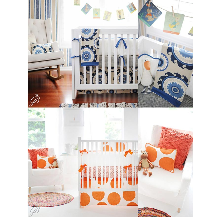 Crib/Cot Bedding - An Explosion of Pattern and Colour!