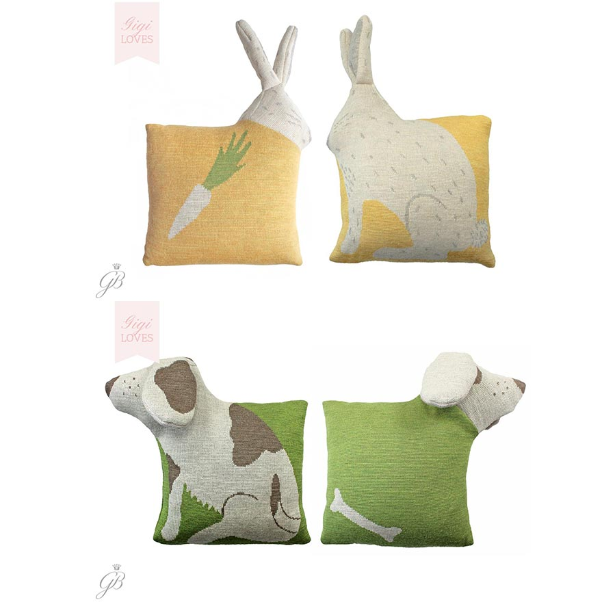 Gigi Loves - Light Brown Bunny Cushion