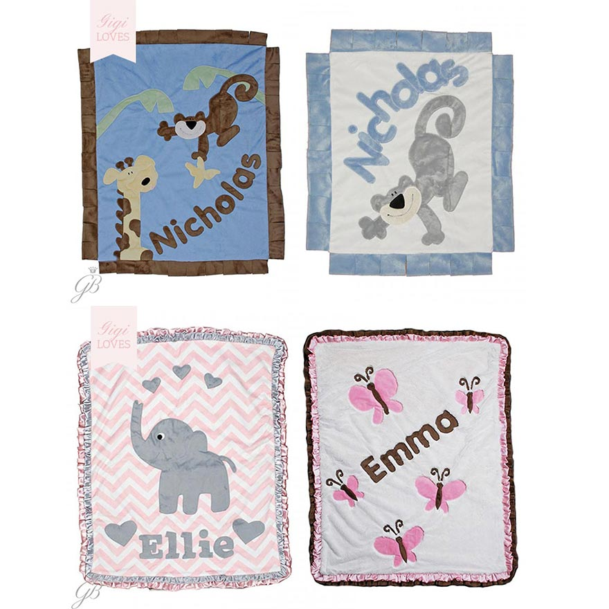 Gigi Loves - Bespoke Personalised Children's Blankets