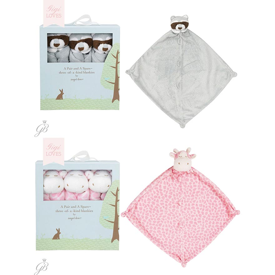 Gigi Loves - A Pair and a Spare Security Blankets for Babies and Toddlers