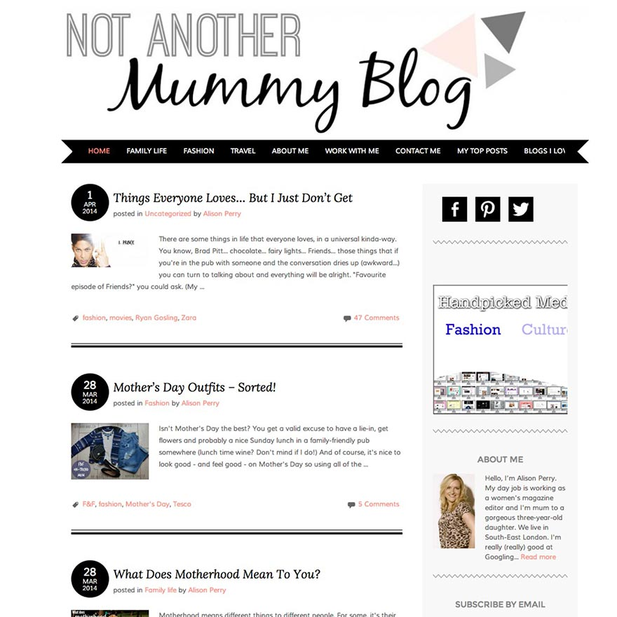 Parenting Blogs - Four Favourites