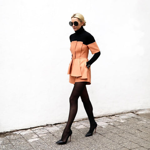 How to Style Tights (Be Fashion Week Ready) Go Mod Vintage with Oohlalaa Hosiery Photo Credit @blaireadiebee