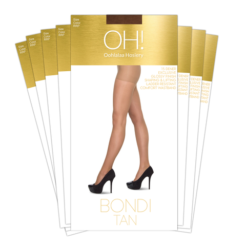 Bondi Tan Pantyhose Pack of 8