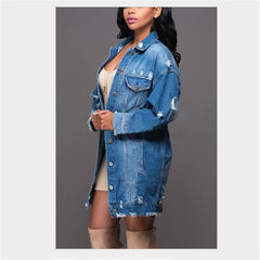 LOOSE DENIM JACKET - Oohlalaa Hosiery!