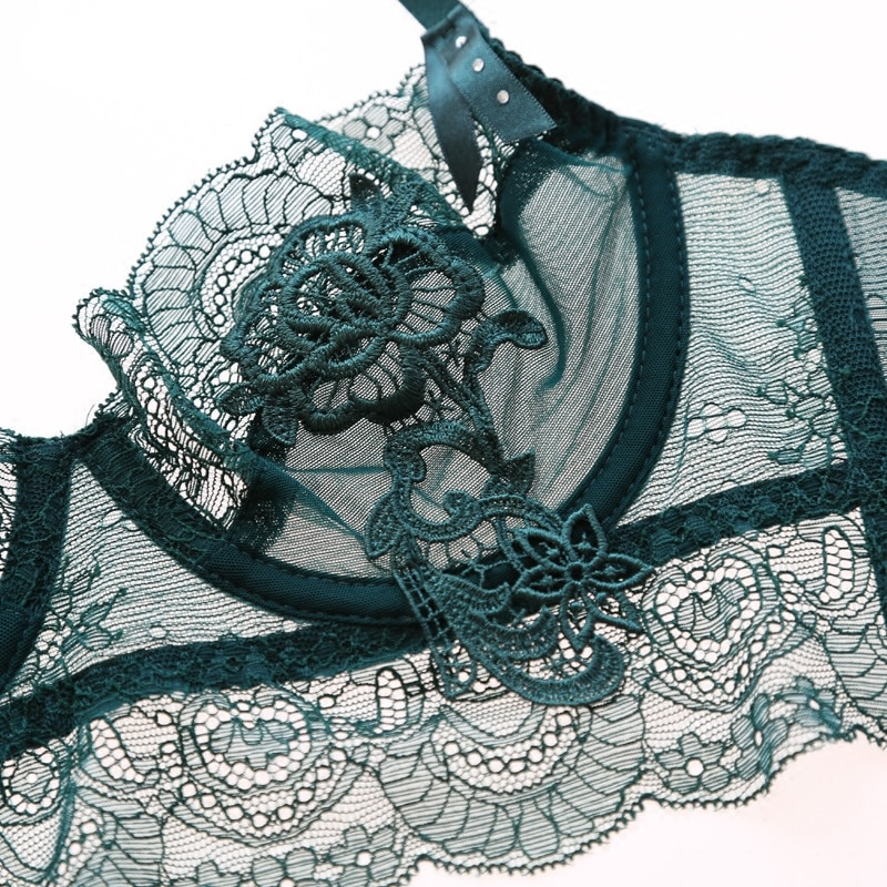 STELLA SHEER LACED/WIRED LINGERIE SET - Oohlalaa Hosiery!