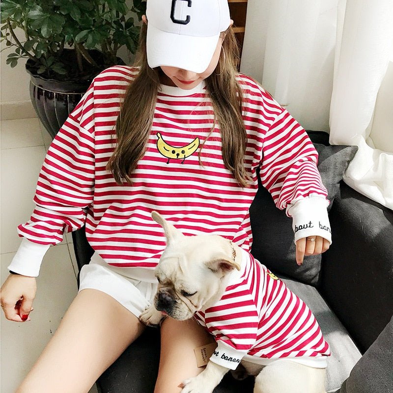DOG STRIPED SWEATSHIRT - Oohlalaa Hosiery!