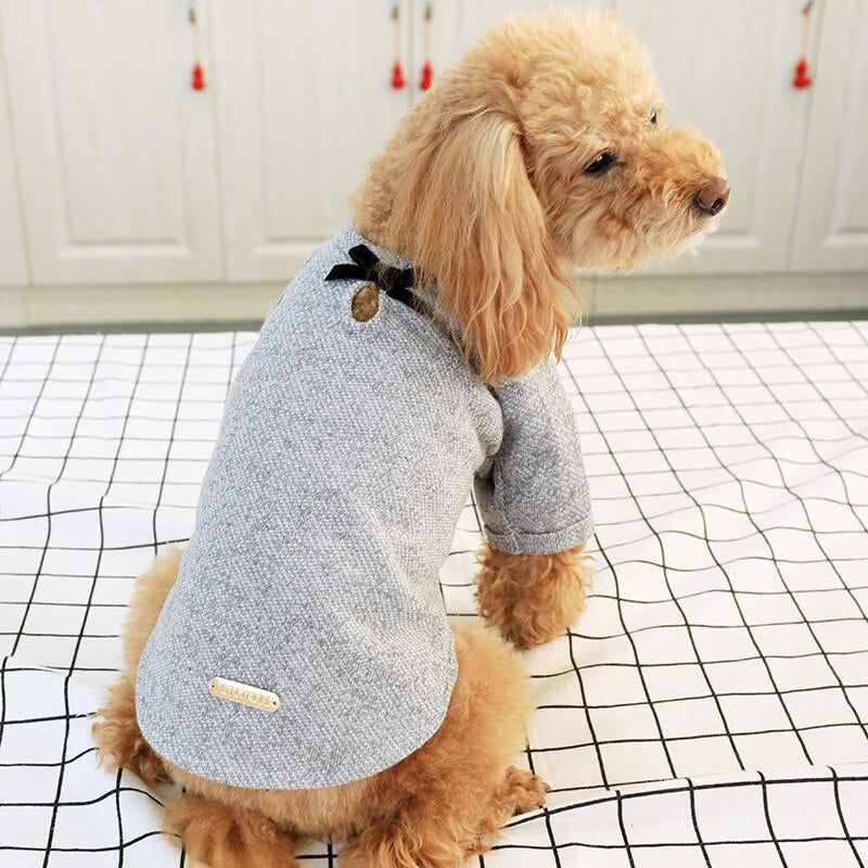BOW KNOT DOG SWEATER - Oohlalaa Hosiery!