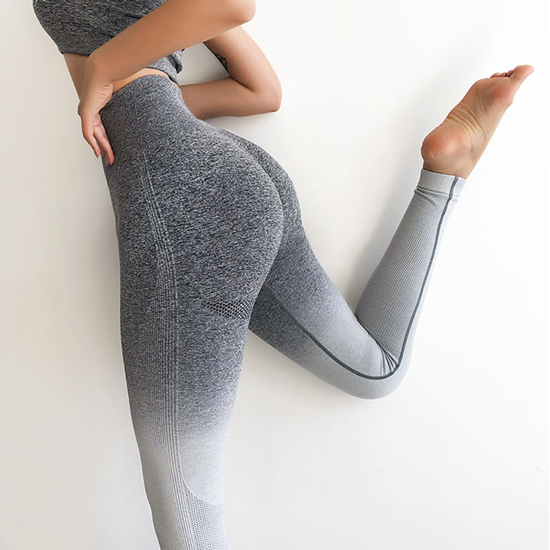 OMBRE HIGH WAIST WORKOUT LEGGINGS - Oohlalaa Hosiery!