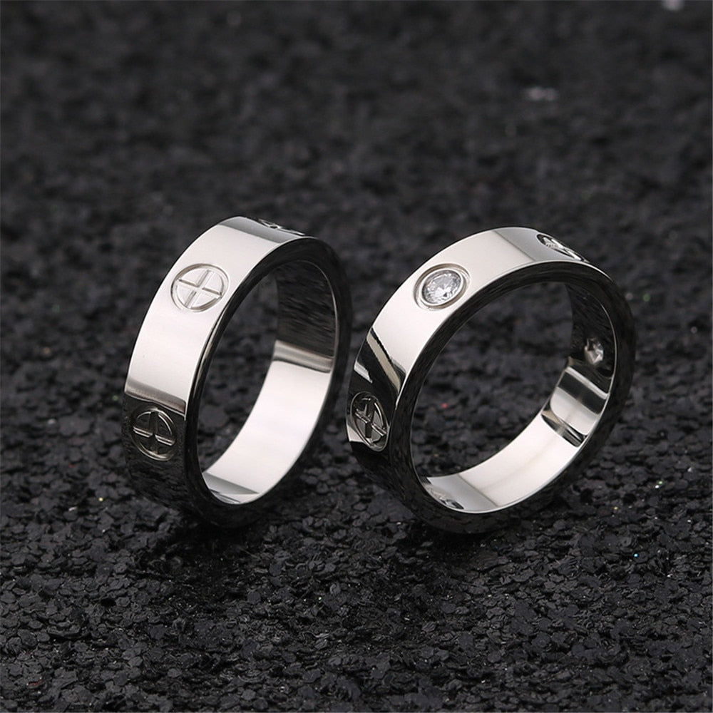 SCREW STAINLESS STEEL RING - Oohlalaa Hosiery!