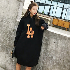 LONG DRESS HOODIE - Oohlalaa Hosiery!