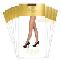 Bondi Tan Pantyhose 10 packs - Monthly Subscription - Oohlalaa Hosiery!