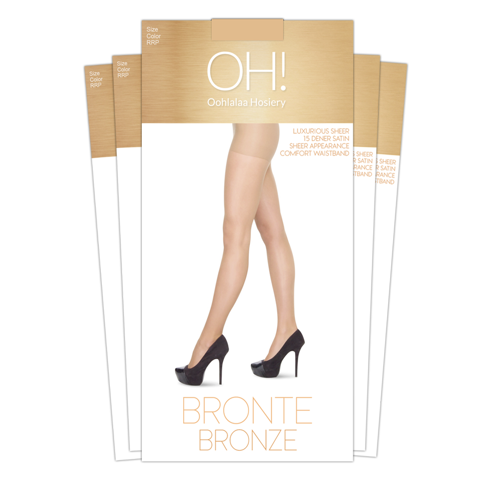 Bronte Bronze Pantyhose 5 pack - Monthly Subscription - Oohlalaa Hosiery!
