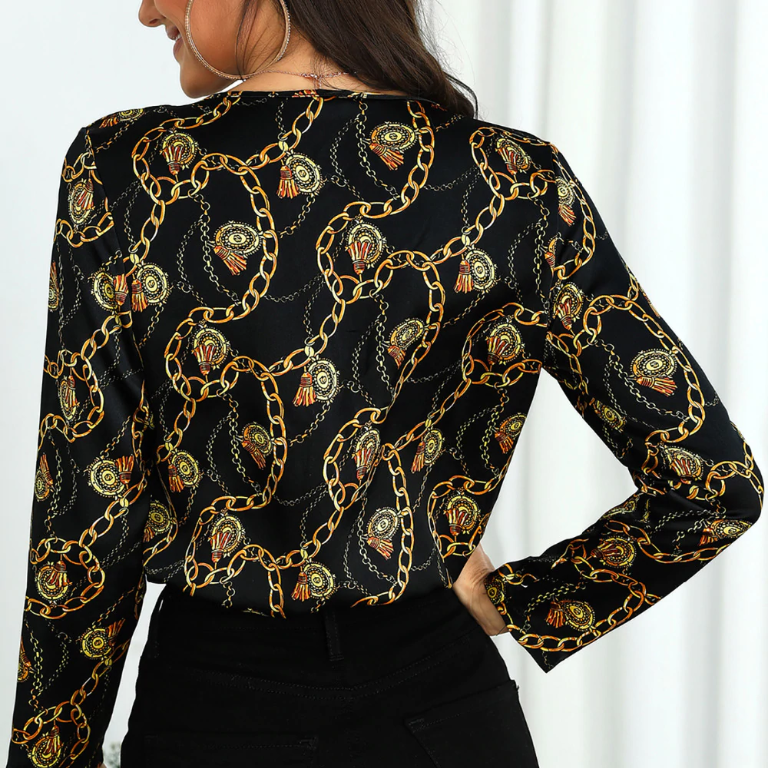 FORMAL CHIFFON BLOUSE - Oohlalaa Hosiery!