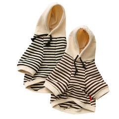 ALASKAN COTTON STRIPED HOODIE - Oohlalaa Hosiery!