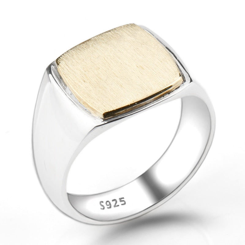 SQUARE BRUSHED VINTAGE RING - Oohlalaa Hosiery!