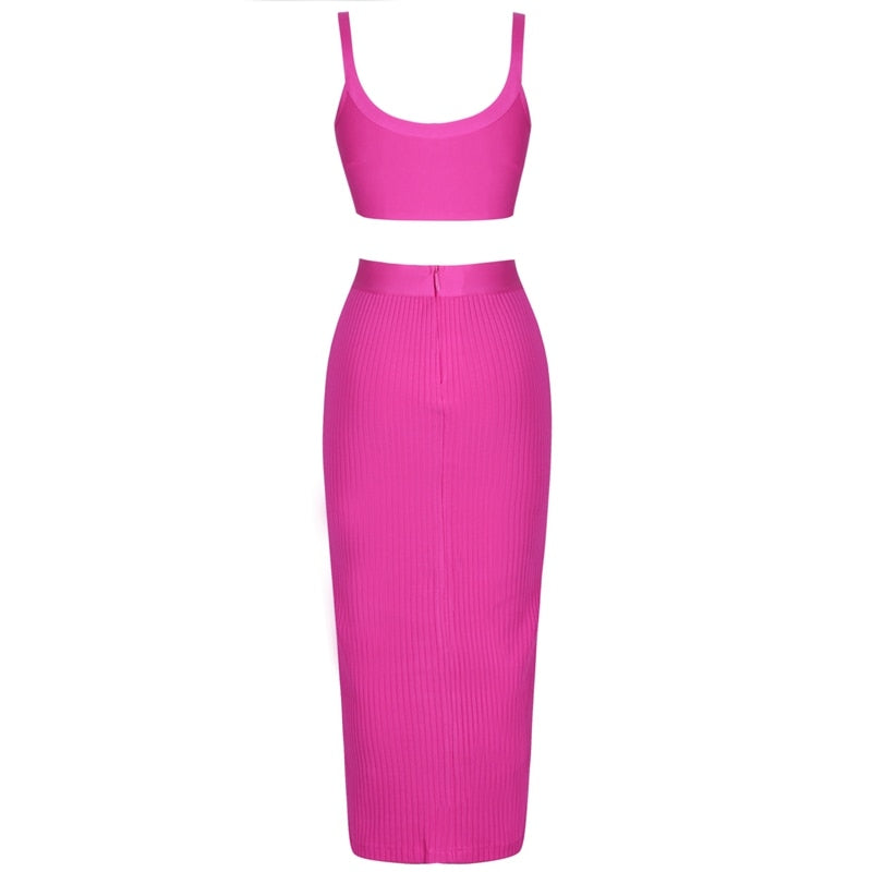 Pink Bandage Two-Piece Dress - Oohlalaa Hosiery!