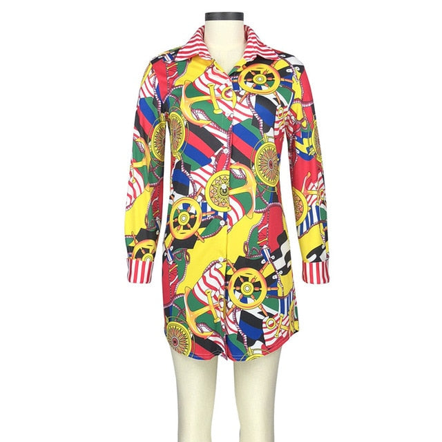 Women's Button Up Shirt Dress - Oohlalaa Hosiery!