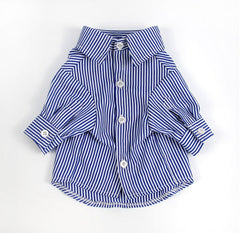 PUFFED SLEEVE DOG STRIPED SHIRT - Oohlalaa Hosiery!