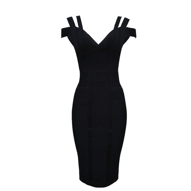 EVENING PARTY BANDAGE DRESS - Oohlalaa Hosiery!