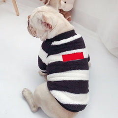 KNITTED STRIPED SWEATSHIRT - Oohlalaa Hosiery!