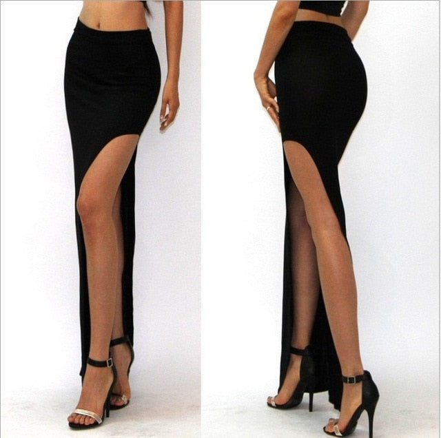 HIGH SLIT MAXI SKIRT - Oohlalaa Hosiery!
