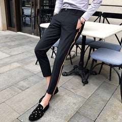 TAPE SIDE DRESS PANTS - Oohlalaa Hosiery!