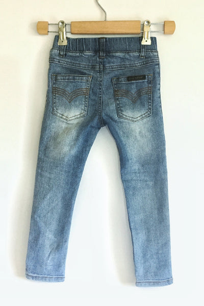 Kids-Beau Hudson-Blue Denim Jegs-Back